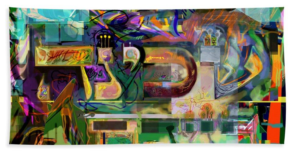 Hand Towel featuring the digital art Marital Harmony 54 by David Baruch Wolk