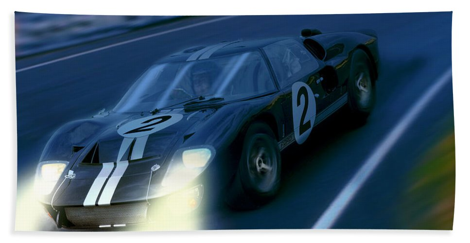 Ford Bath Sheet featuring the photograph Mark II At Night by Craig Purdie