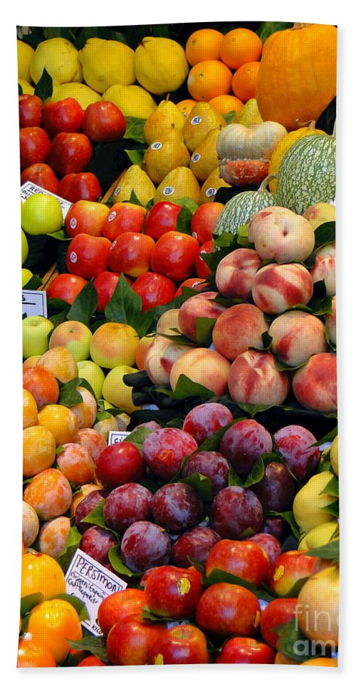 Food Bath Sheet featuring the photograph Market Time II by Sue Melvin