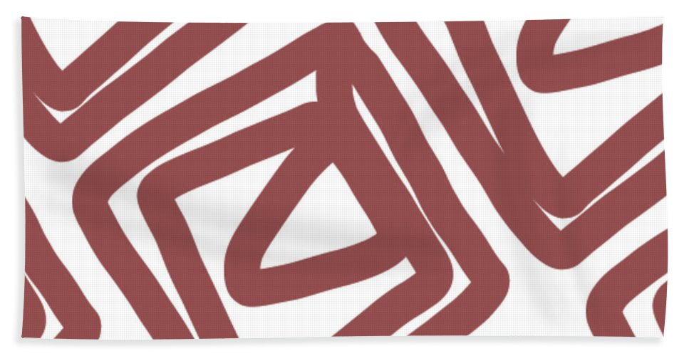 Pattern Hand Towel featuring the painting Marsala Envelopes- Abstract Pattern by Linda Woods