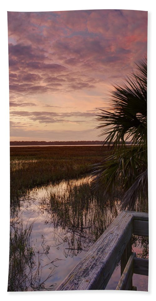 Beaufort County Bath Sheet featuring the photograph Marsh Dock by Phill Doherty