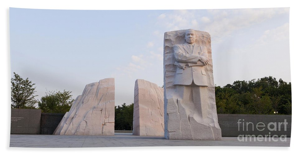 Martin Bath Sheet featuring the photograph Martin Luther King Jr Memorial by B Christopher