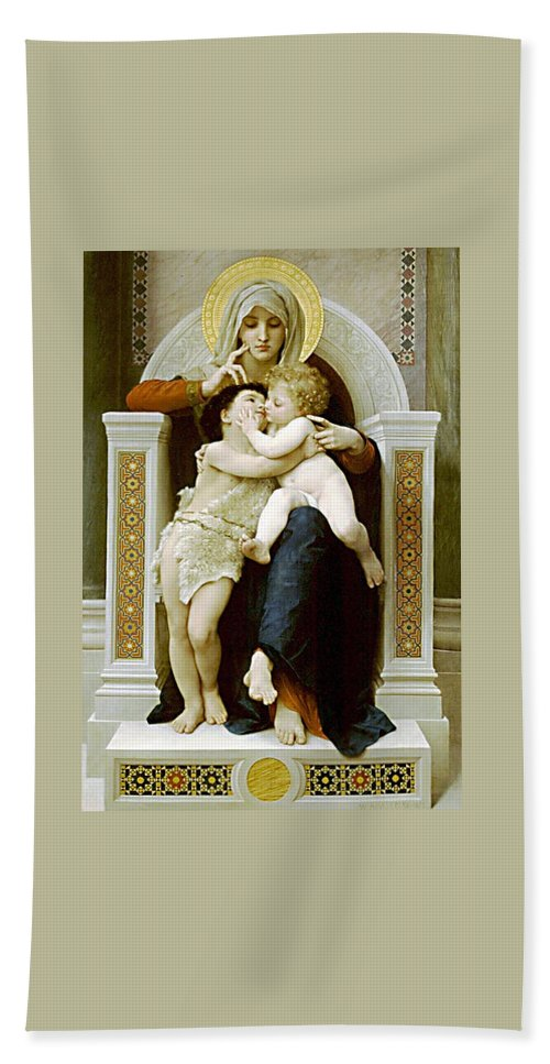 Jesus Hand Towel featuring the photograph Mary Jesus And John The Baptist by Munir Alawi