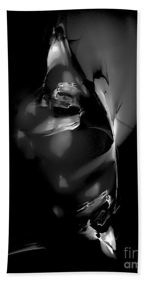 Fantasy Art Drawings Hand Towel featuring the digital art Mask 0519 Marucii by Marek Lutek