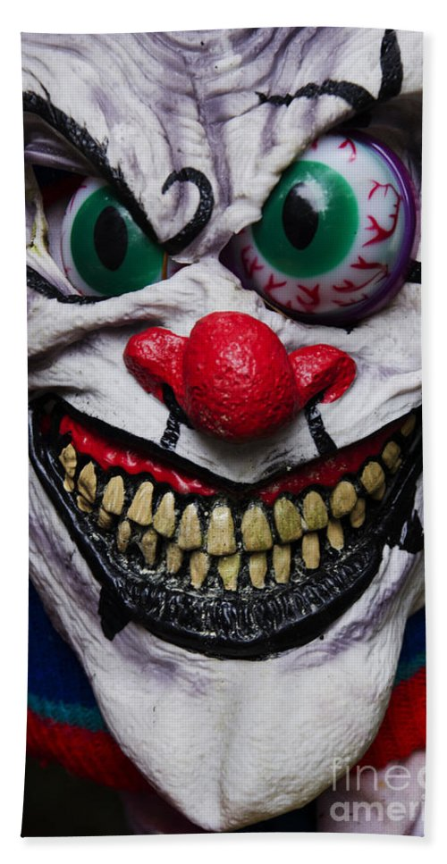 Mask Bath Sheet featuring the photograph Masks Fright Night 6 by Bob Christopher