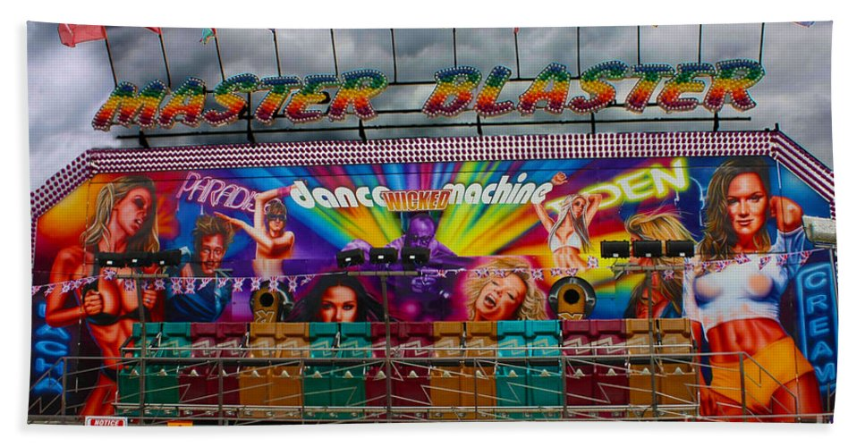 Funfair Ride Hand Towel featuring the photograph Master Blaster All The Fun Of The Fair by Terri Waters