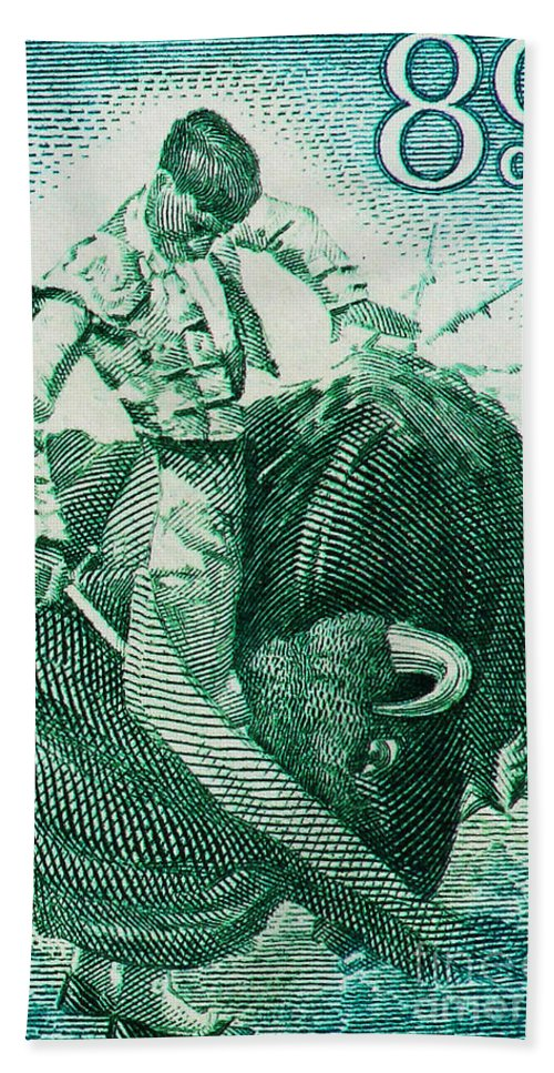 Bullfight Hand Towel featuring the photograph Matador 3 by Andy Prendy