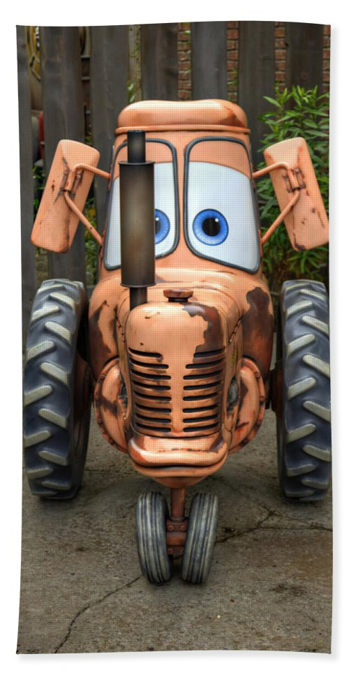 Tractor Bath Sheet featuring the photograph Mater's Tractor by Ricky Barnard