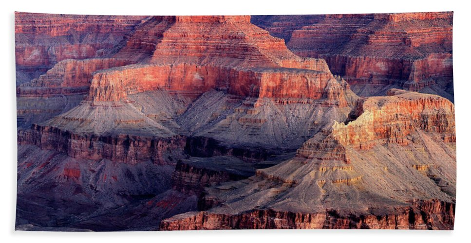 Arizona Bath Sheet featuring the photograph Mather Point Twilight by Ed Riche
