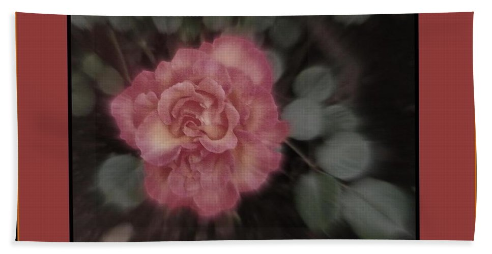 Acrylic Prints Bath Sheet featuring the photograph Matri Dhama Rose Design by Bobbee Rickard