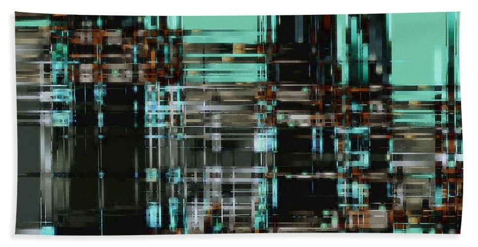 Digital Hand Towel featuring the digital art Matrix 1 by David Hansen