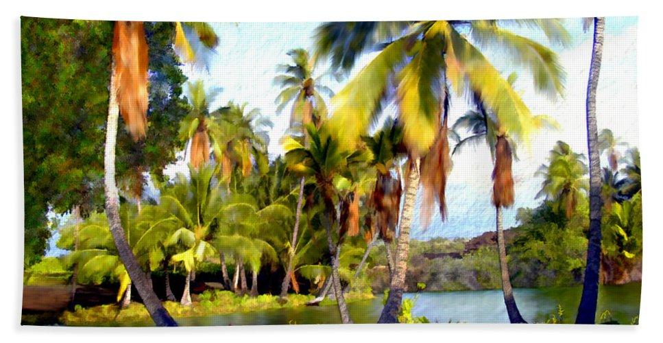 Hawaii Hand Towel featuring the photograph Mauna Lani Fish Ponds by Kurt Van Wagner