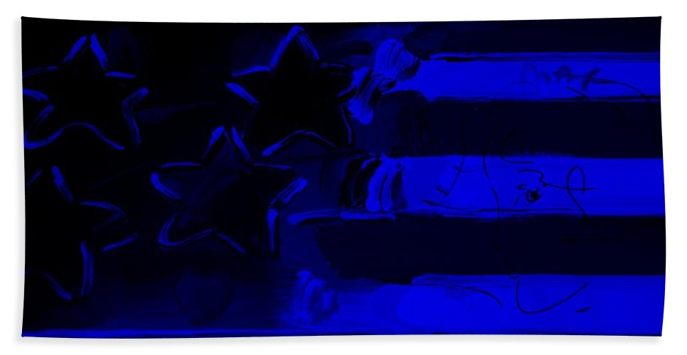 Modern Bath Sheet featuring the photograph Max Americana In Blue by Rob Hans