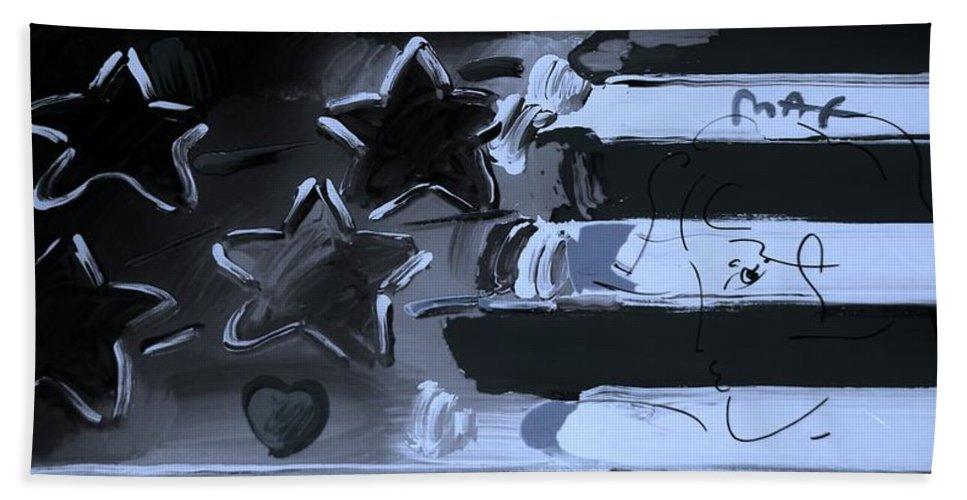 Modern Bath Sheet featuring the photograph Max Americana In Cyan by Rob Hans