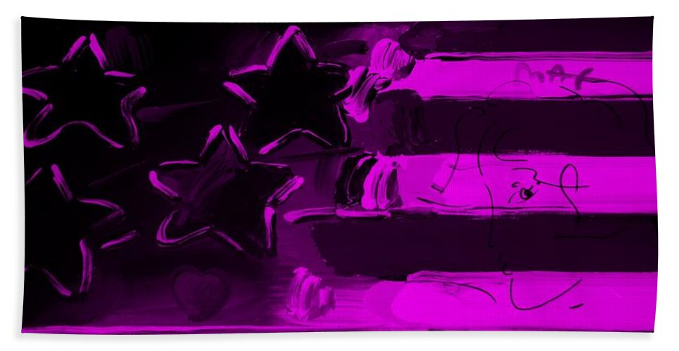 Modern Bath Sheet featuring the photograph Max Americana In Purple by Rob Hans