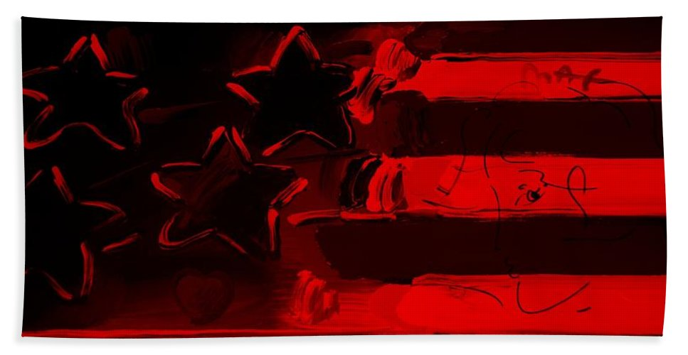Modern Hand Towel featuring the photograph Max Americana In Red by Rob Hans