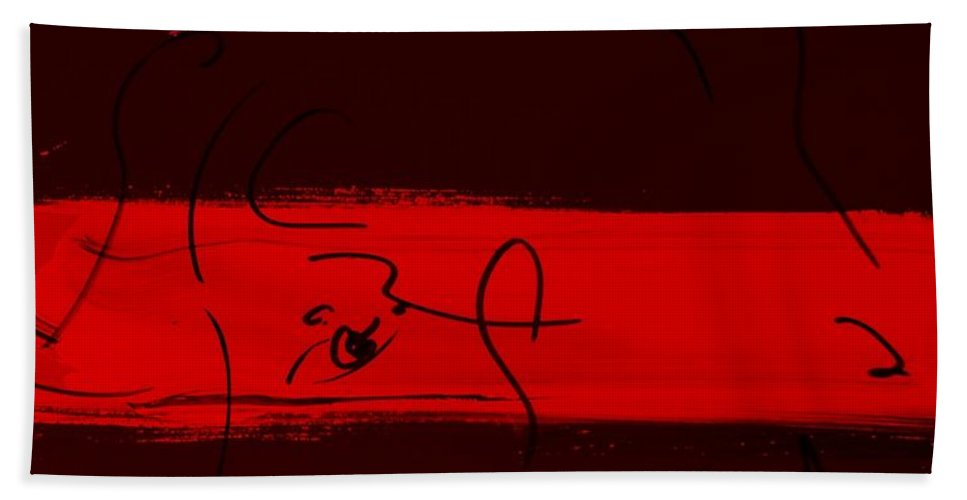Modern Hand Towel featuring the photograph Max Woman In Red by Rob Hans