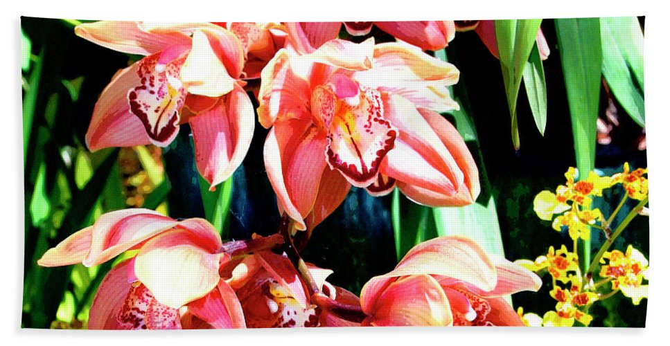 Orchid Bath Sheet featuring the photograph Joy Orchids by William Dey