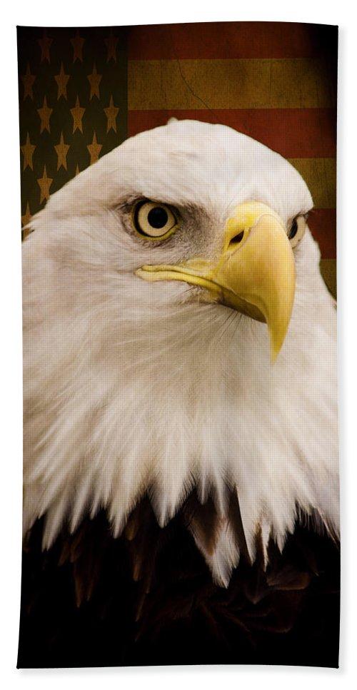 May Your Heart Soar Like An Eagle Bath Towel featuring the photograph May Your Heart Soar Like An Eagle by Jordan Blackstone