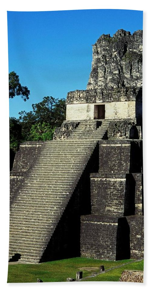 Guatemala Hand Towel featuring the photograph Mayan Ruins - Tikal Guatemala by Juergen Weiss