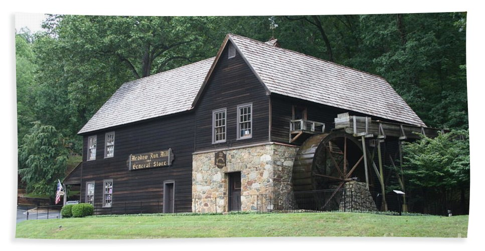 Mill Bath Sheet featuring the photograph Meadow Run Mill by Christiane Schulze Art And Photography