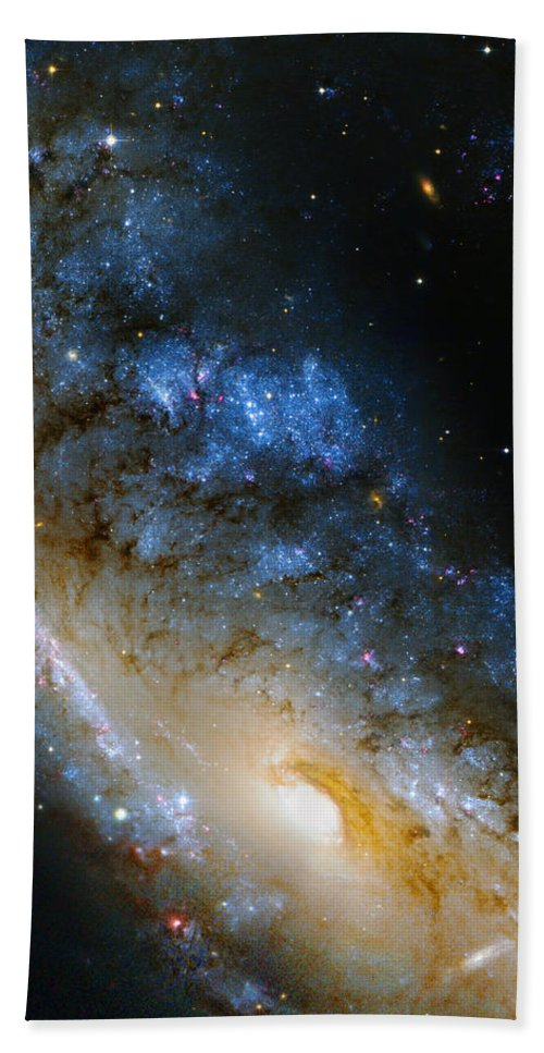 Ngc Hand Towel featuring the photograph Meathook Galaxy by Ricky Barnard