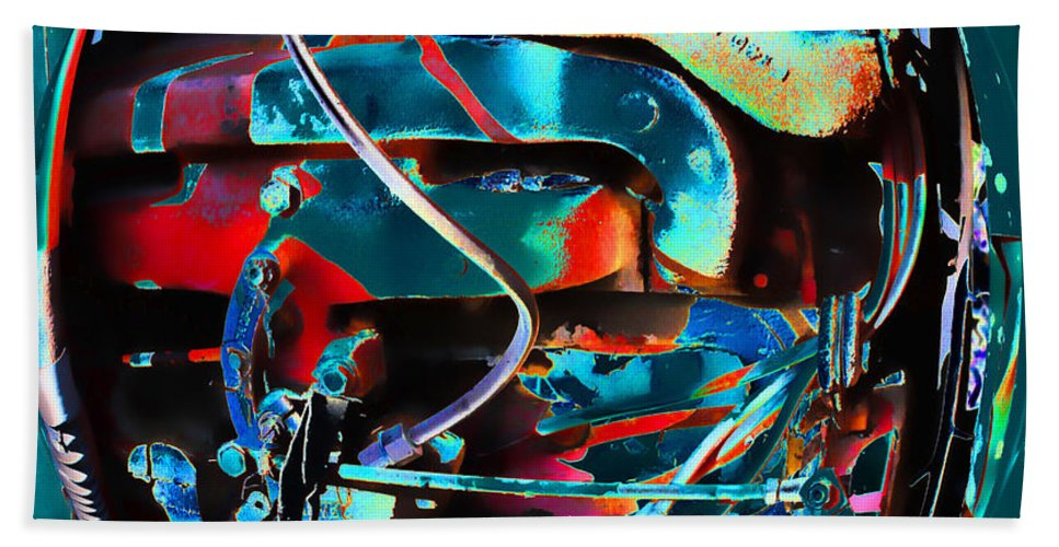 Abstract Photo Hand Towel featuring the photograph Mechanical Sphere by Sylvia Thornton