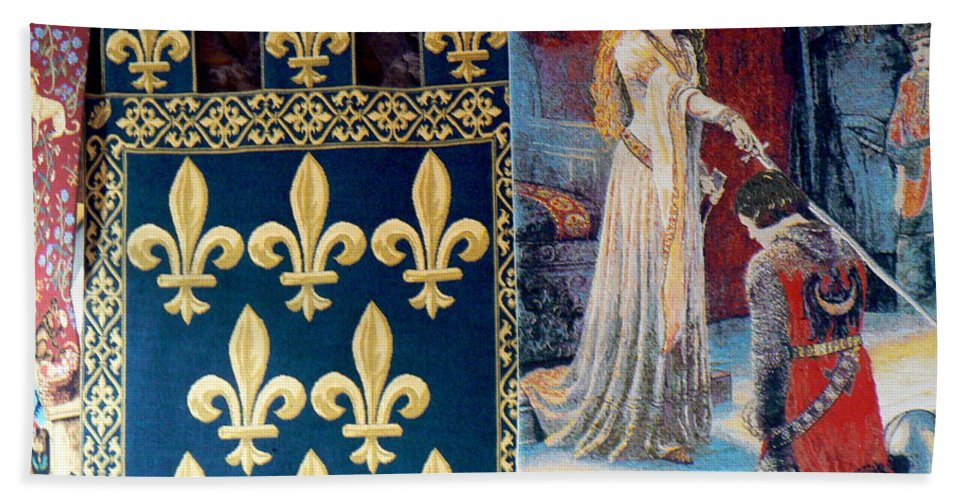 France Bath Sheet featuring the photograph Medieval Tapestry by France Art
