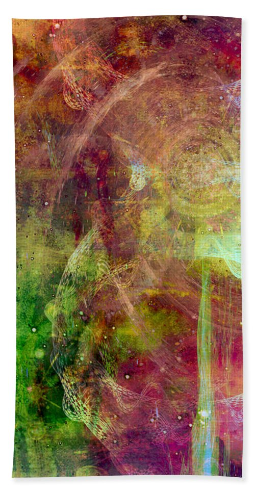 Meditation Bath Sheet featuring the digital art Meditation by Linda Sannuti