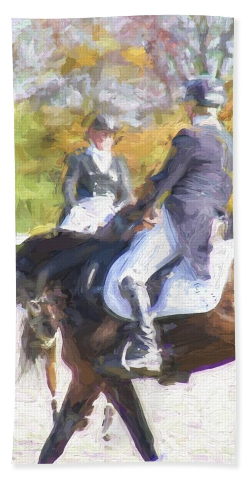 Horses Bath Sheet featuring the photograph Meet by Alice Gipson