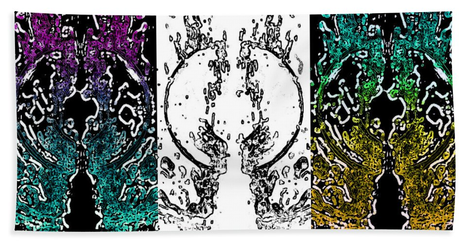Abstract Bath Sheet featuring the painting Melt 3rd by Christopher Krieger