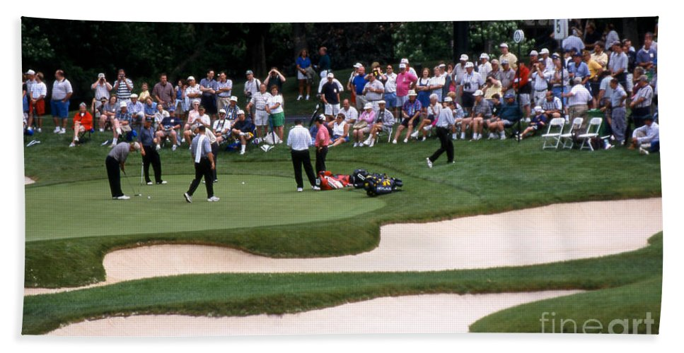 Memorial Tournament Hand Towel featuring the photograph 12w192 Memorial Tournament Photo by Ohio Stock Photography
