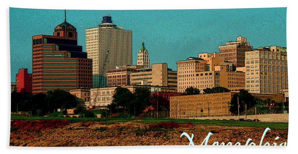 Memphis Bath Sheet featuring the photograph Memphis by Karen Beasley