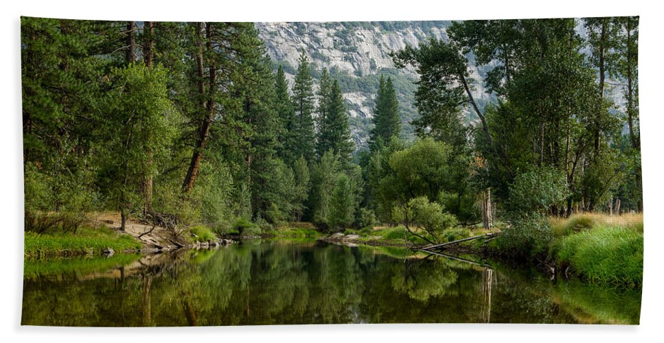 Yosemite National Park Bath Sheet featuring the photograph Merced Morning by Greg Nyquist