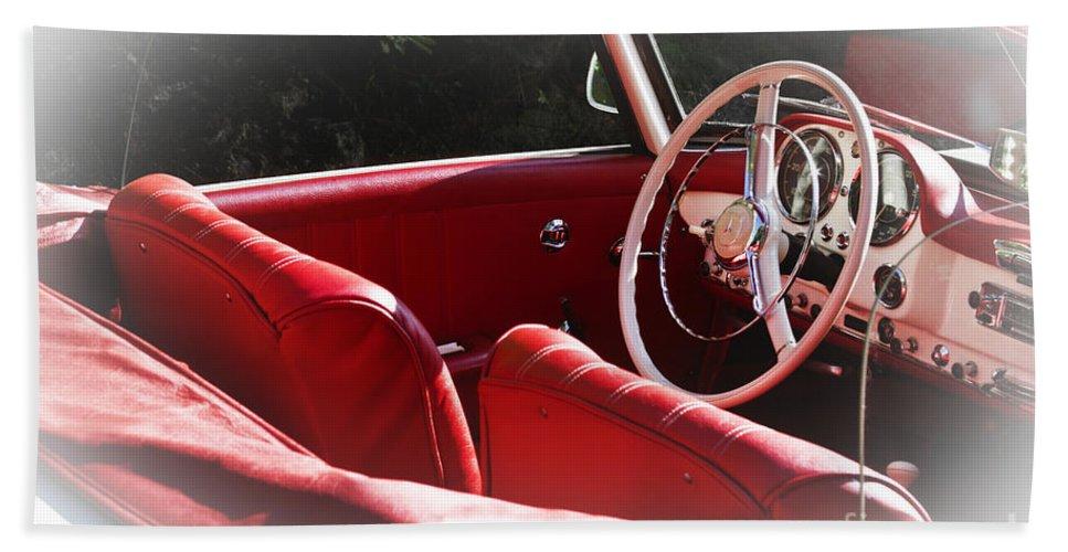 Mercedes Benz Hand Towel featuring the photograph Mercedes Benz 190 Sl by Heiko Koehrer-Wagner