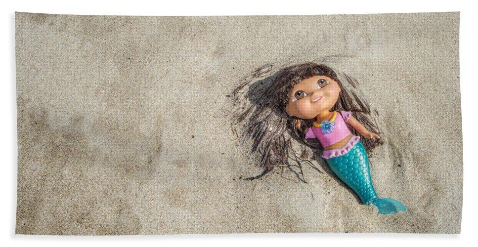 Crane Beach Bath Sheet featuring the photograph Mermaid In The Sand by David Stone