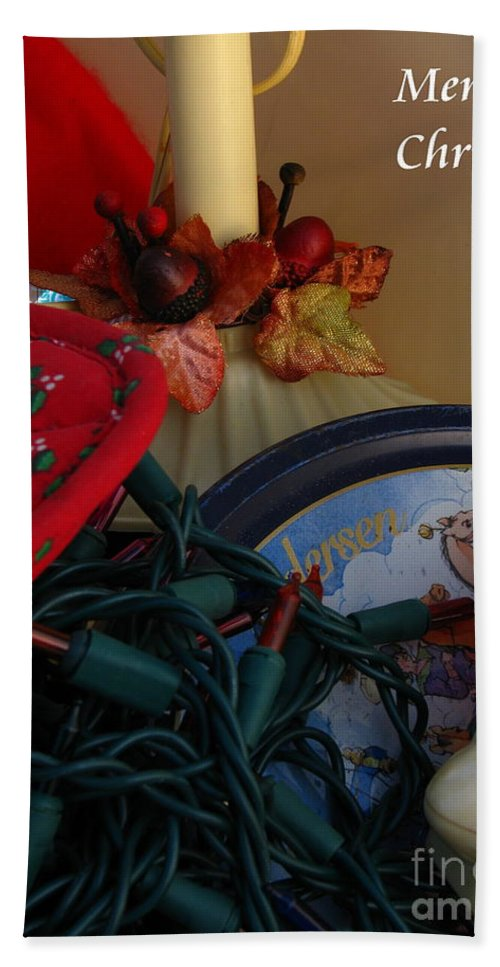 Patzer Hand Towel featuring the photograph Merry Christmas by Greg Patzer