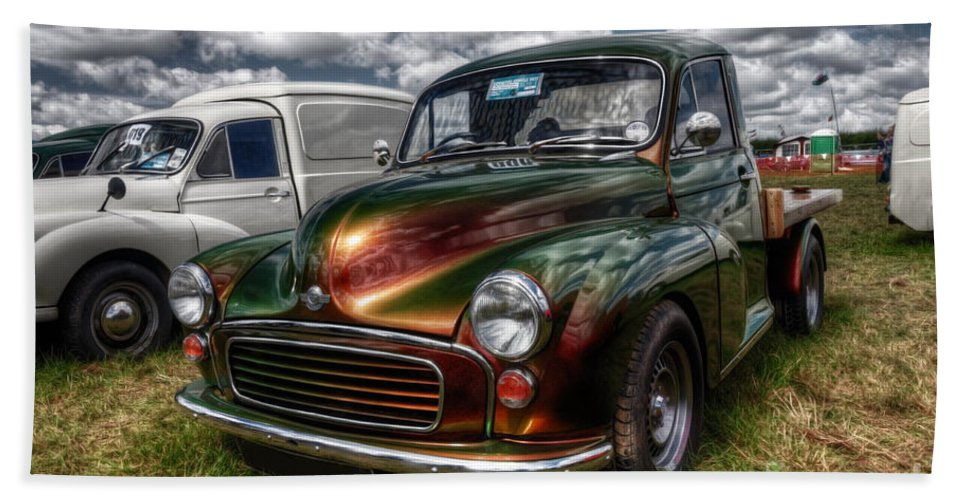 Morris Hand Towel featuring the photograph Metallic Morris by Rob Hawkins