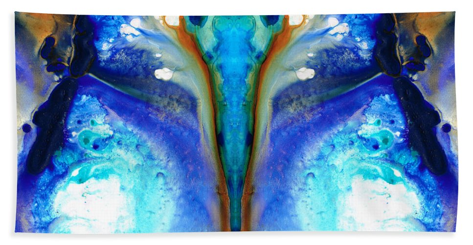 Abstract Bath Sheet featuring the painting Metamorphosis - Abstract Art By Sharon Cummings by Sharon Cummings