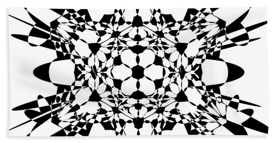 Hypercube Bath Sheet featuring the digital art Metatron Cube A Version by Steven Dunn