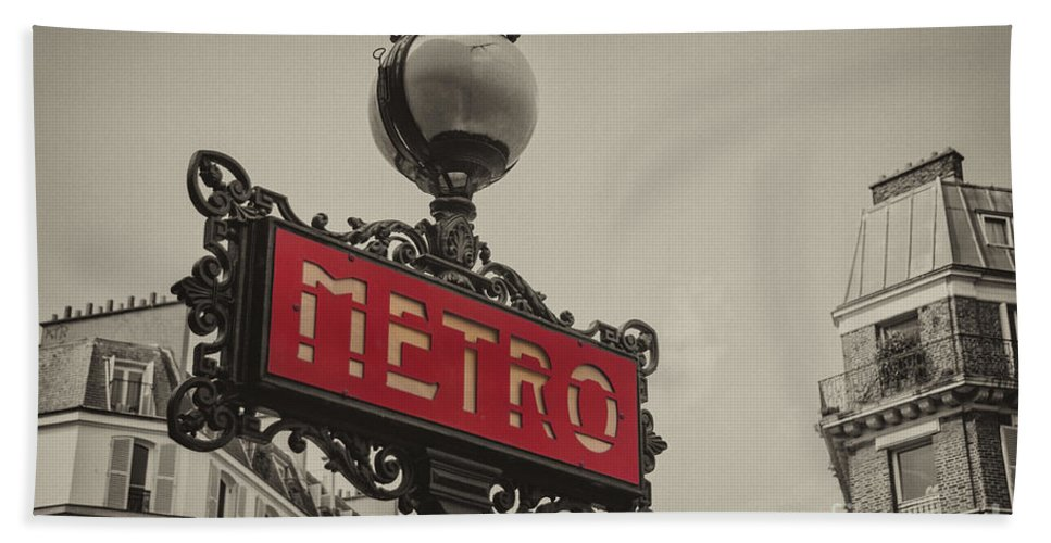 Paris Bath Sheet featuring the photograph Metro by Rob Hawkins