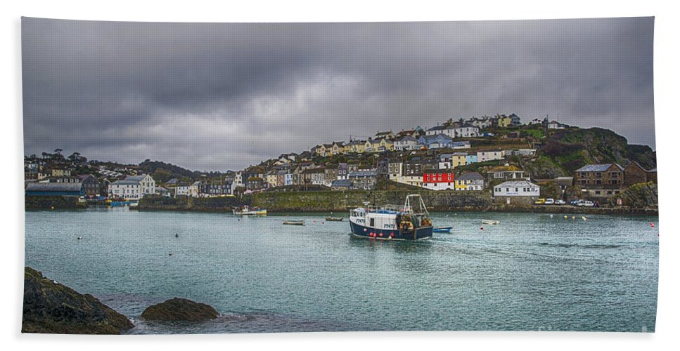 Mevagissey Canvas Hand Towel featuring the photograph Mevagissy Cornwall by Chris Thaxter