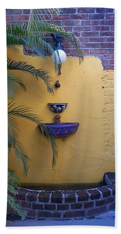 Mexico Bath Sheet featuring the photograph Mexican Courtyard by Kimberly Maxwell Grantier