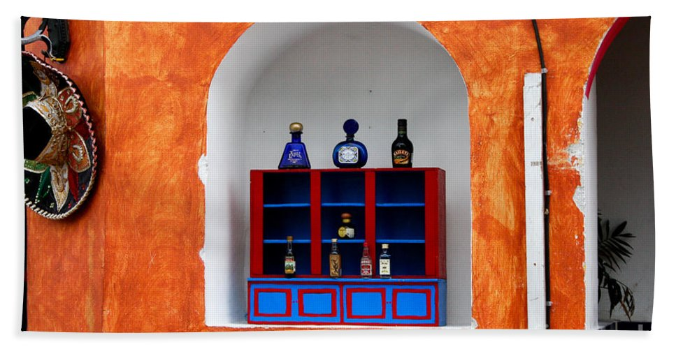 Architecture Bath Sheet featuring the photograph Mexican Wall Niche by Thomas Marchessault