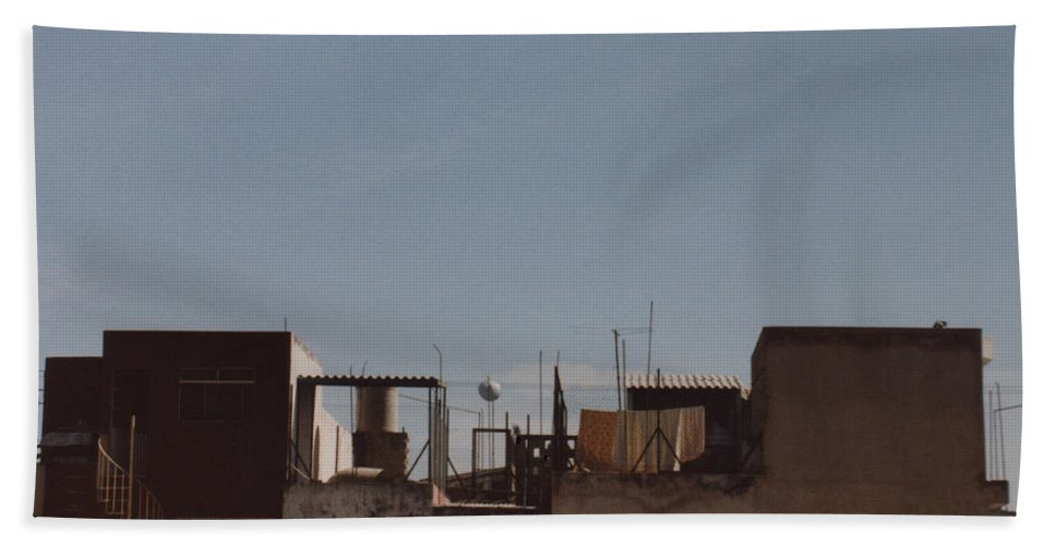 Mexico Hand Towel featuring the photograph Mexico Rooftop By Tom Ray by First Star Art