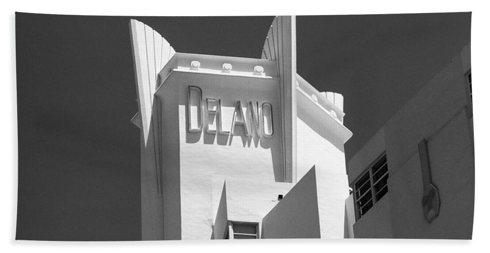 America Hand Towel featuring the photograph Miami Beach - Art Deco 23 by Frank Romeo