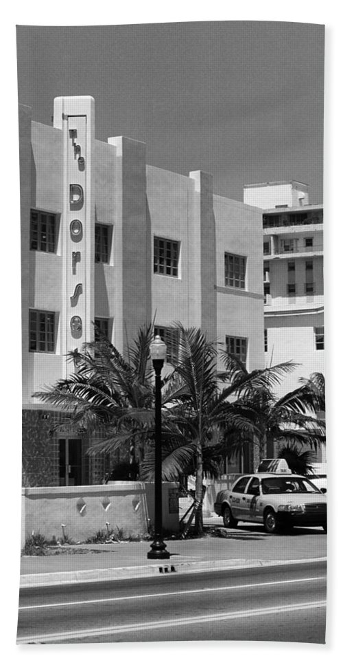 America Hand Towel featuring the photograph Miami Beach - Art Deco 24 by Frank Romeo