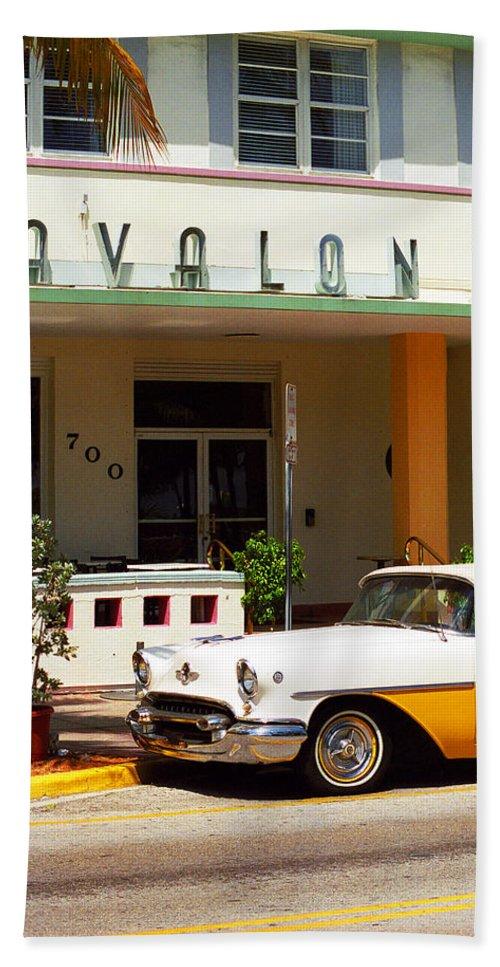 Art Bath Sheet featuring the photograph Miami Beach - Art Deco by Frank Romeo