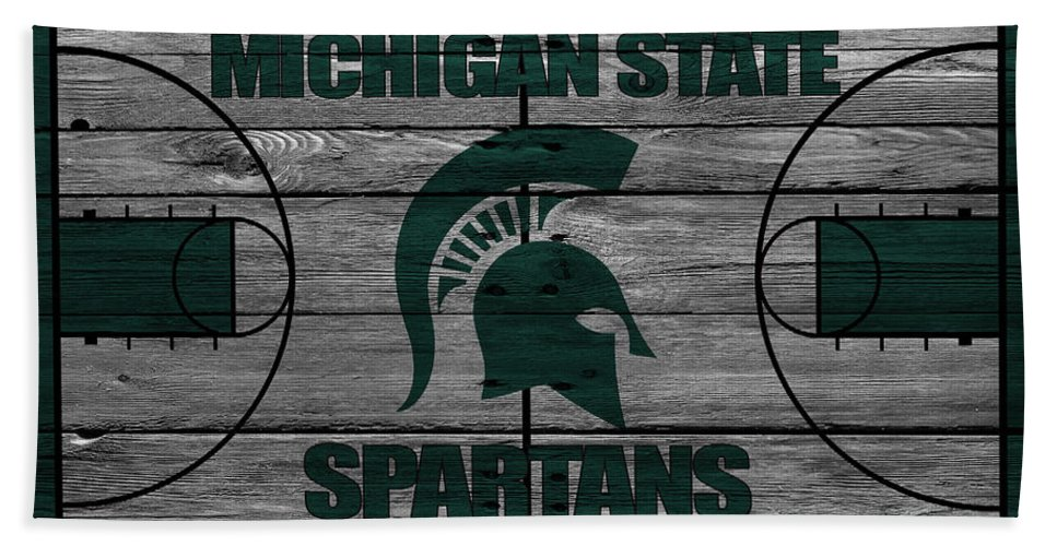 Spartans Bath Towel featuring the photograph Michigan State Spartans by Joe Hamilton