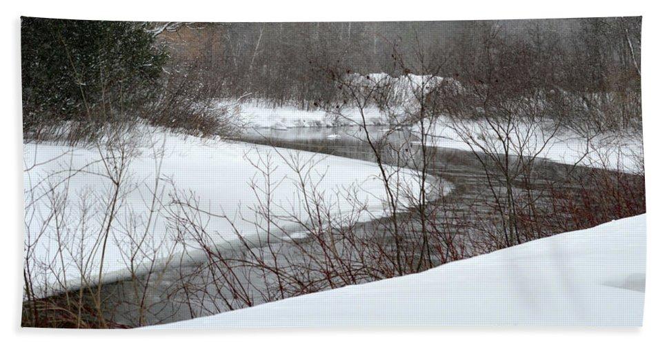 Stream Bath Sheet featuring the photograph Michigan Stream by Linda Kerkau